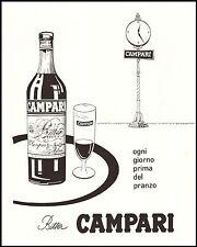 BITTER CAMPARI APERITIVO PRANZO OROLOGIO BICCHIERE BOTTIGLIA VASSOIO 1957