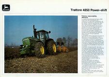 "PUBBLICITA' WERBUNG "" JOHN DEERE : TRATTORE 4850 POWER - SHIFT """