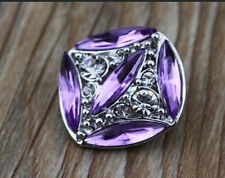 3D Rhinestone Drill Snaps Chunk Charm Button Fit For  Leather Bracelets Q32