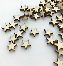 100pcs Wooden Blank Small Star Shapes Embellishments Wedding Crafts Scrapbooking