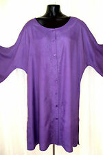 LARGE LONG PURPLE GOTH HIPPY BOHO TUNIC KAFTAN JORDASH TOP FREE SIZE