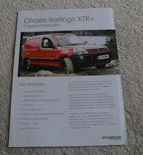Citroen Berlingo XTR+ Brochure Flyer 2006