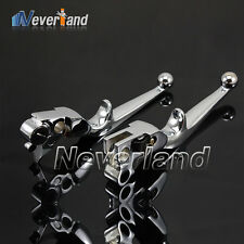 Brake Clutch Levers For Harley Davidson Softail FXDB FLSTC Dyna Glide Road King★