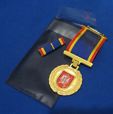SERBIA NEW MEDAL ARMY 200 YEARS+PIN RIBBON BAR cased