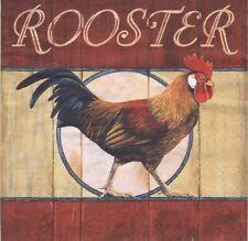 2 Serviettes en papier Animal Ferme Coq - Paper Napkins Red Rooster