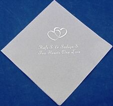 300 Personalized Wedding beverage napkins cocktail custom printed wedding favors