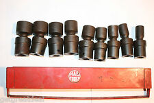 "MAC TOOLS 1/2"" DRIVE IMPACT UNIVERSAL 6-P SAE SOCKET SET w/TRAY 9pcs 7/16-15/16"""