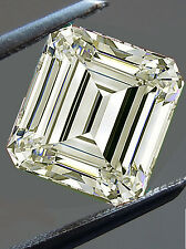 1.61ct VVS1/7.06mm GENUINE OFF WHITE COLOR EMERALD LOOSE REAL MOISSANITE RING