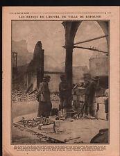 WWI Hôtel de Ville Bapaume Pas-de-Calais ANZAC Australia Army 1917 ILLUSTRATION
