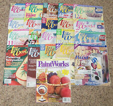 Lot 20 Decorative Tole World Folk Art Painting Pattern Craft Magazine Projects