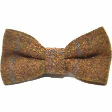 Heritage Check Cedar Brown Bow Tie, Tweed, Country Bow Tie
