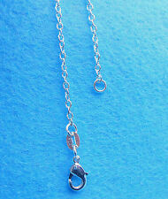 1PCS 30 inch Wholesale Jewelry 925 Sterling Silver Plated Rolo Chain Necklaces