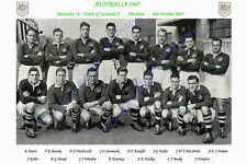 "AUSTRALIA 1947 (v North of Scotland) 12"" x 8"" RUGBY TEAM PHOTO PLAYERS NAMED"