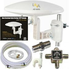 LAVA HD-8000 360-DEGREES HDTV DIGITAL AMPLIFIED OUTDOOR TV ANTENNA HD VHF CABLE