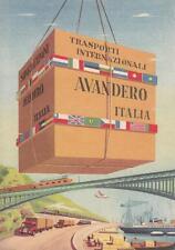 C1647) CARTONCINO, TRASPORTI INTERNAZIONALI AVANDERO ITALIA.