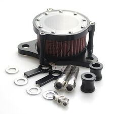 Black CNC Air Cleaner Intake Filter System For Harley Sportster 883 1200 2004-15