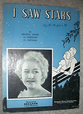 1934 I SAW STARS Vintage Sheet Music ROXANNE by Sigler, Goodhart, Hoffman
