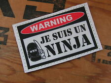 Patch velcro ..:: WARNING Je suis un ninja ::.. US couleur AIRSOFT humour FIGHT