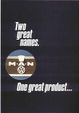 MAN VW MT Light Truck 1979-80 Original UK Sales Brochure Pub. No. MD/105