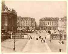 Italia, Torino. Piazza Castello e Via Roma  Vintage albumen print. Italy.