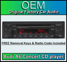 Audi A6 CD player, Audi Concert car stereo head unit Supplied with radio code
