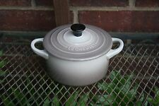 "Le Creuset Round Cocotte~ Dutch Oven 22oz, 5.5"" NUTMEG NEW In Box, RARE"