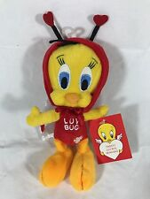 TWEETY BIRD LUV BUG Valentine Bean Bag Plush Warner Bros  Looney Tunes Toy