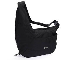 Black Lowepro Passport Sling III DSLR Nylon Camera Photo Bag Shoulder Carry Case