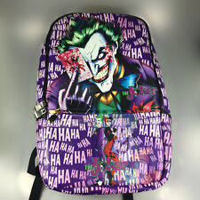 New DC Comics Batman Joker Logo Leather Sports Messenger school backpack Bag 20