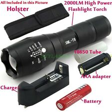 2000LM CREE XM-L T6 LED Flashlight Torch Zoom Zoomable Lamp Light UltraFire XML