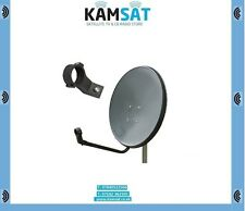 SATELLITE DISH ANTENNA 100CM STAINLESS STEEL GREY ASTRA HOTBIRD ZONE 2