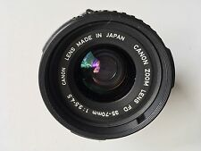 Canon FD 35-70mm F3.5-4.5 Manual Focus Lens