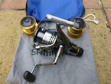 Shimano Twin Power 4000XT-RB Reel, 2 Spare Spools, Cloth Bag, and Reel case