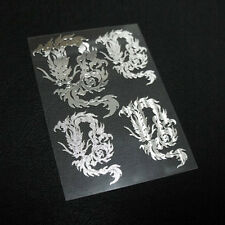 DETAILKOREA Chrome Dragon Pattern Metal Sticker Decal Car Motorcycle Bike 2.67""