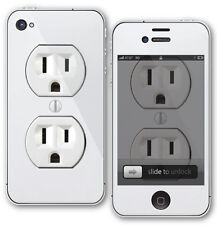White Outlet Funny Skin Sticker Decal iPhone 4/4s Protector Back & Front