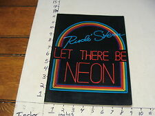 Vintage ART book--LET THERE BE NEON, stern 1979 abrams