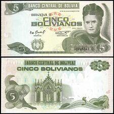 Bolivia 5 BOLIVIANOS Serie D ND 1995 P 217 UNC