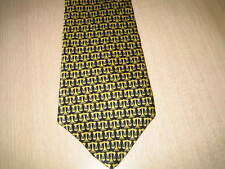 SUPREME COURT Black w/Gold Mini Scales Mens Neck Tie in Silk - New with Tag.