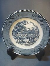 Currier & Ives Royal China HARVEST SIDE PLATE  Blue and White