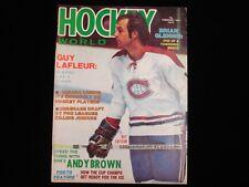 February 1975 Hockey World Magazine - Guy Lafleur Cover