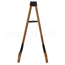 Electric Acoustic Bass Guitar Floor Stand Holder Rack A-Frame Folding Wood