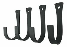 Set of 4 Village Wrought Iron Wall Hook for Coat Hat Towels Wall Mount 3""