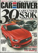 Car and Driver magazine 30 cars under 30 thousand 2015 Mustang Ecoboost Gymkhana
