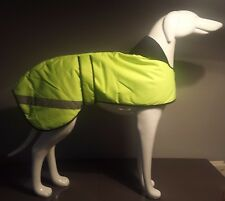 WATERPROOF PADDED HI-VIZ YELLOW GREYHOUND DOG COAT 26""