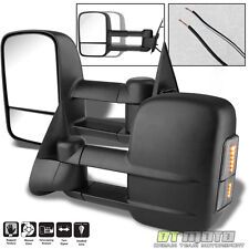 Left+Right SMOKE Lens LED Signal 99-07 Silverado Tahoe Towing Manual Side Mirror