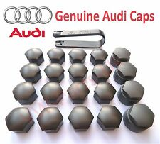 Genuine AUDI Alloy Wheel Bolt Nut Caps Covers Including Removal Tool