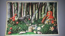 VTG Little Red Riding Hood POSTCARD CARTOLINA 3D CAPPUCCETTO ROSSO XOGRAPH PARIS