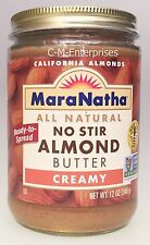 Mara Natha All Natural No Stir Creamy Almond Butter 12 oz