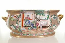 "Beautiful Famille Chinese Style Porcelain Large Foot Bath 22""L"