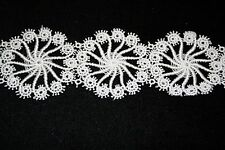 """Venise lace in White Rayon - 10 yds for $13.99 - 2"""" Wide"""